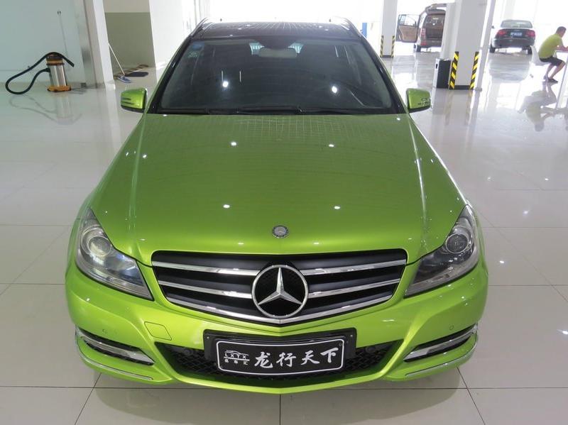 【苏州】2011年9月 奔驰 1.8 c200 时尚旅行版 绿色 自动档图片