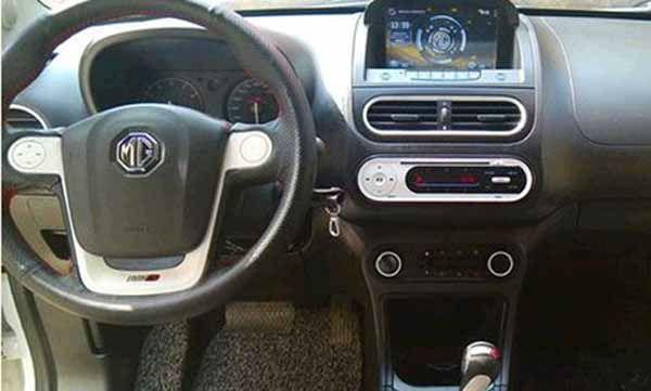 5mt ,编号1400504名爵1.5导行版,跟新车没啥区别,带多功能方向盘 .