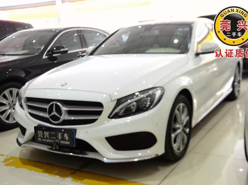 在�z(c_【东莞】2014年10月 奔驰 c级 c 200l 运动型 白色 自动档